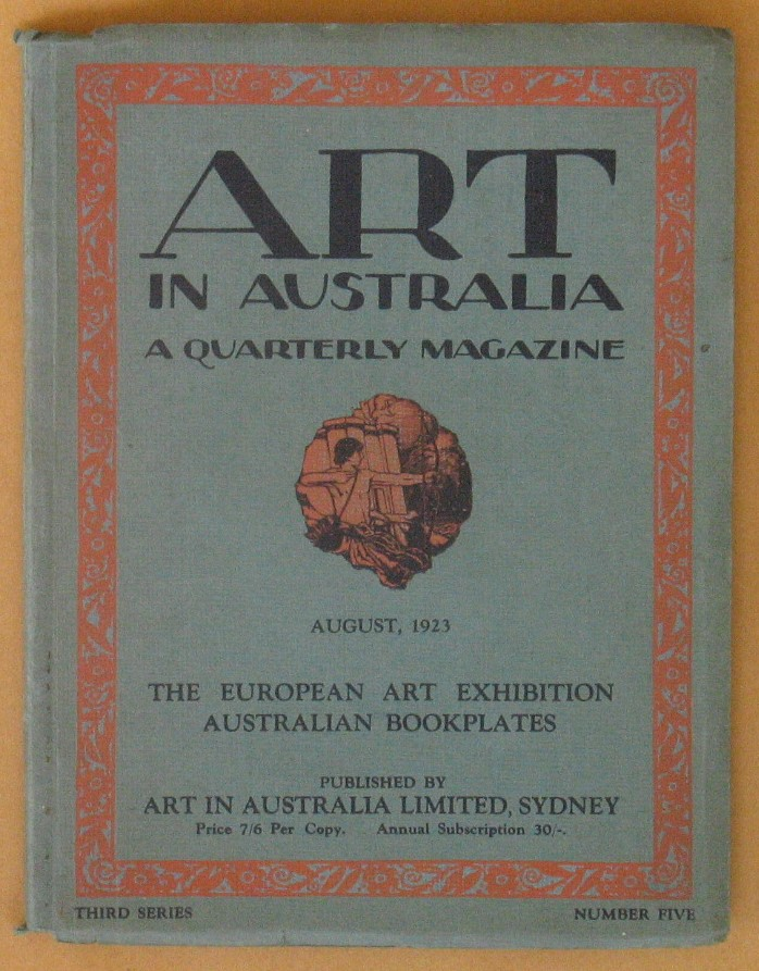 Image for Art in Australia Third Series Number Five August 1923 - Australian Bookplates - the European Art Exhibition