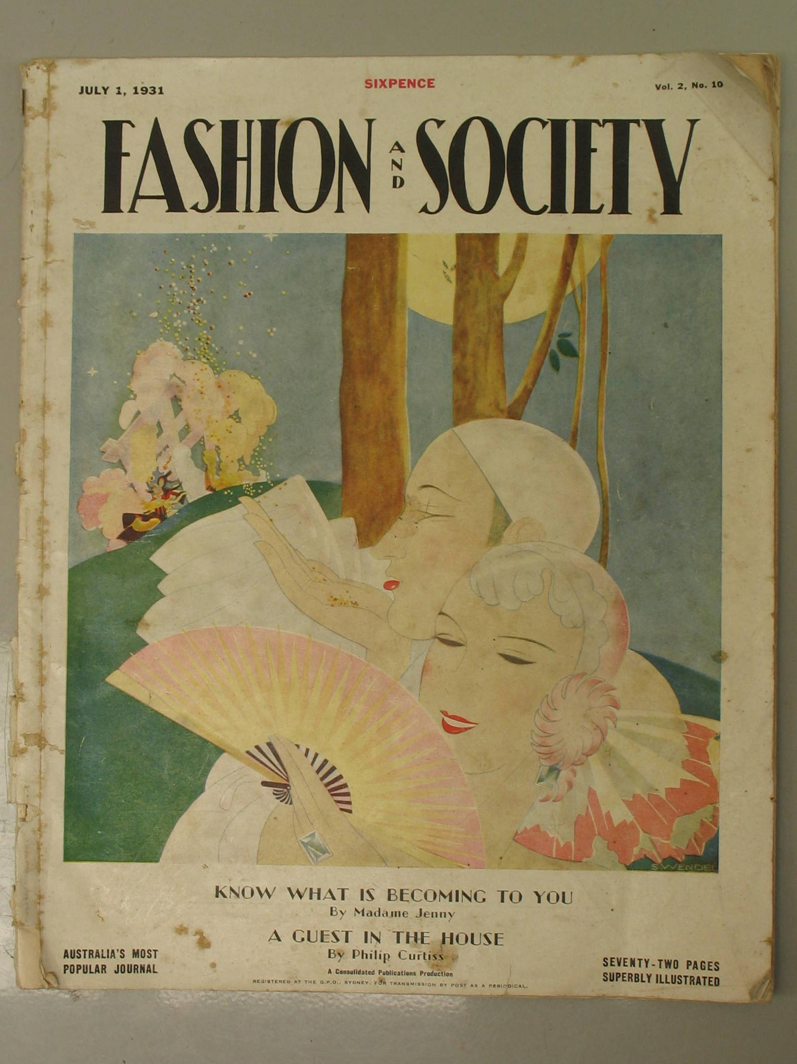 Image for Fashion and Society Magazine Volume 2 - No. 10 July 1, 1931