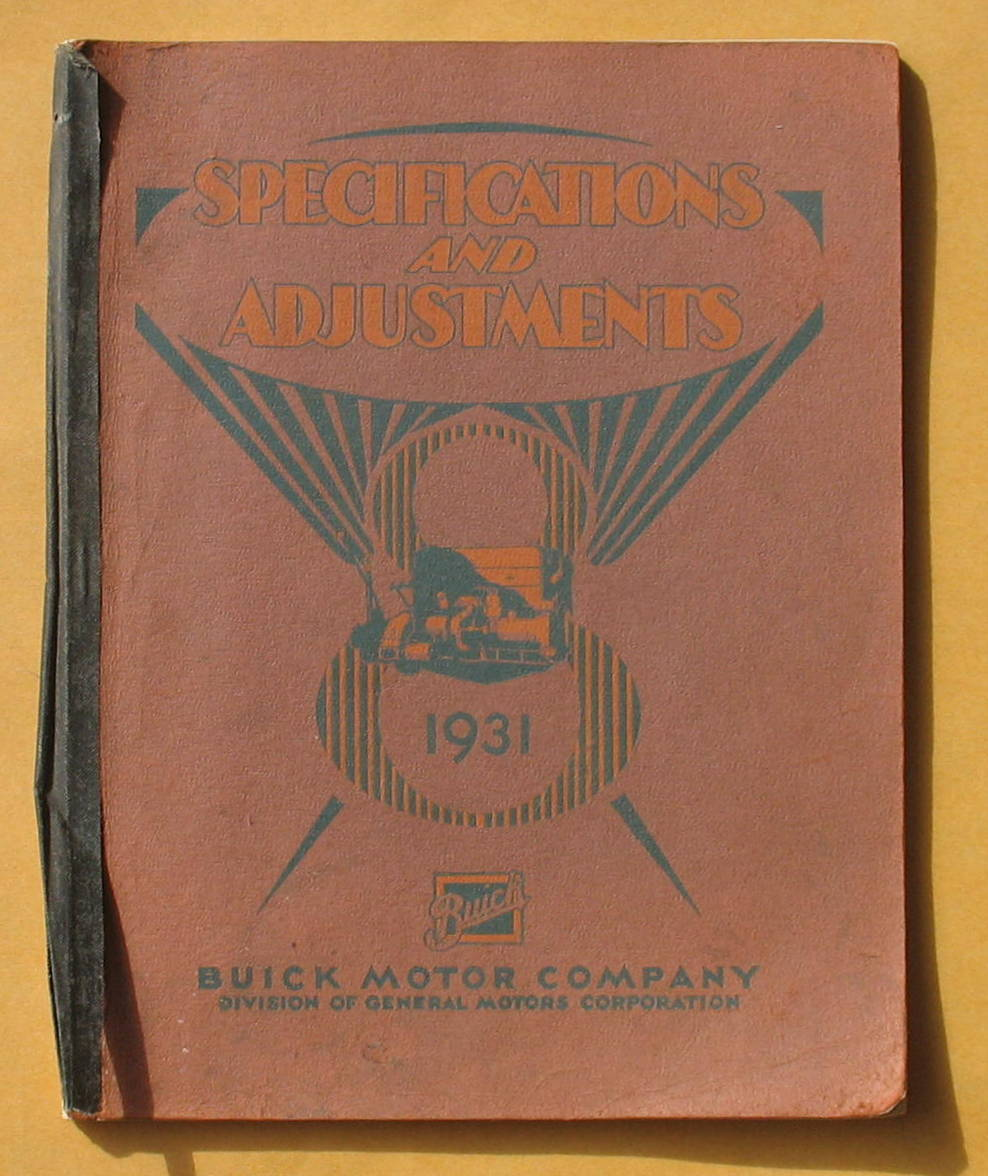 Image for Buick 1931 Models Specifications and Adjustments