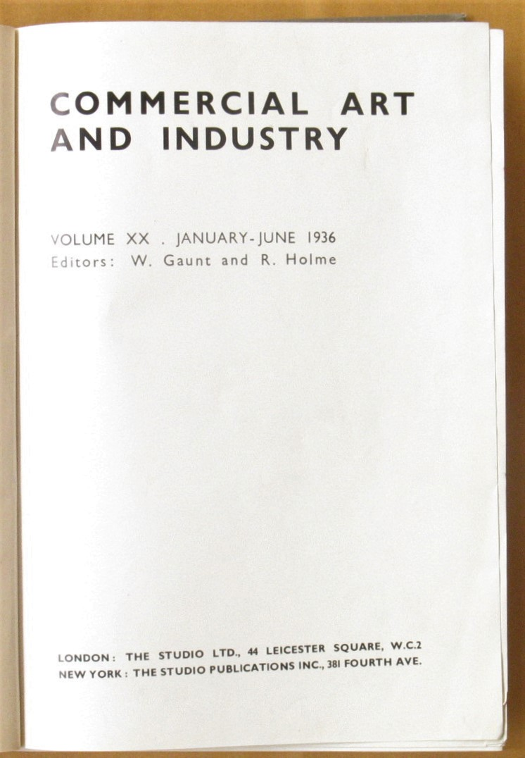 Image for Commercial Art and Industry. Vol. XX. January to June 1936