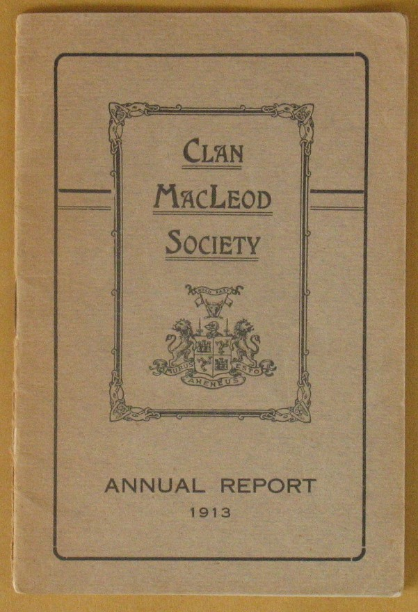 Image for Clan MacLeod Society Annual Report 1913