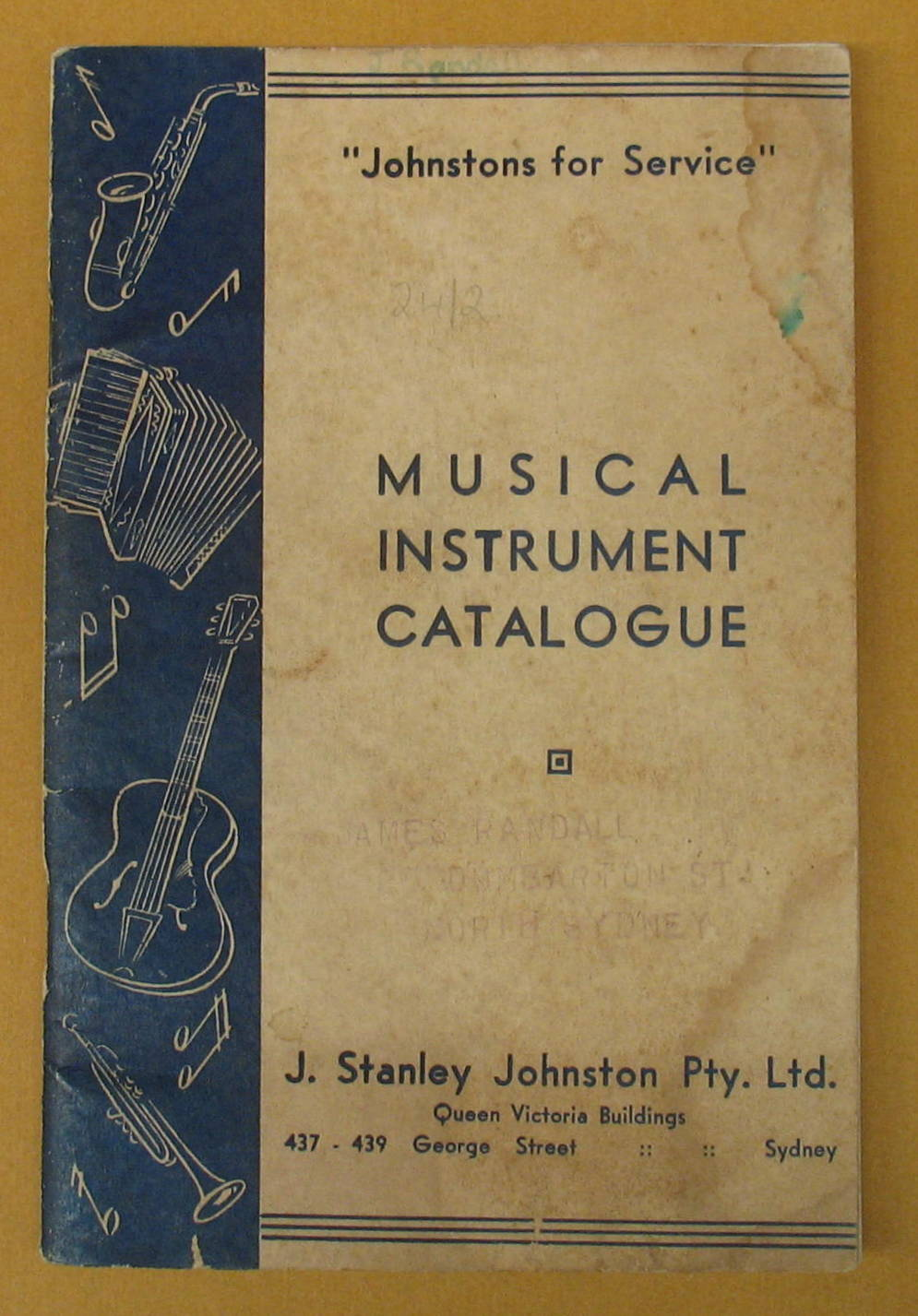 Image for Musical Instrument Catalogue: J. Stanley Johnston Pty. Ltd.