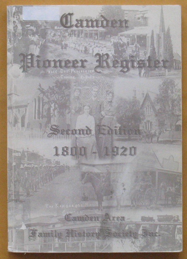 Image for Camden Pioneer Register Second Edition 1800-1920